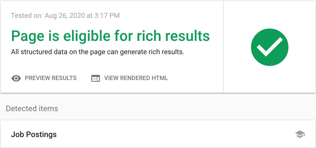 Google JobPosting - goed